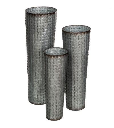 Jarrón metal gris