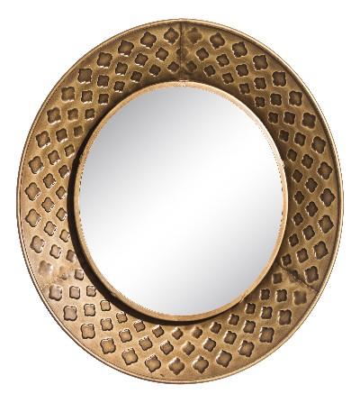 Espejo de hierro  dorado