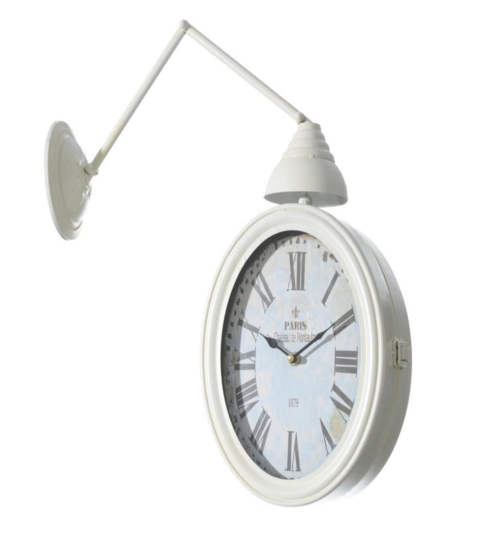 Reloj estación metal crema