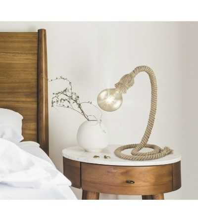 Lámpara de sobremesa moderna marrón