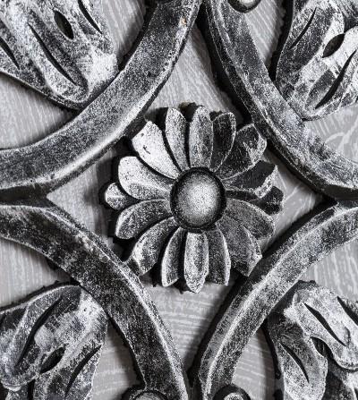 Cuadro flores relieve