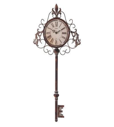 Reloj de pared metal llave