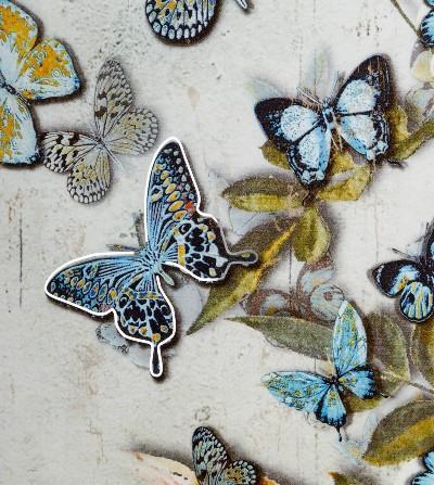 Cuadro metal mariposas